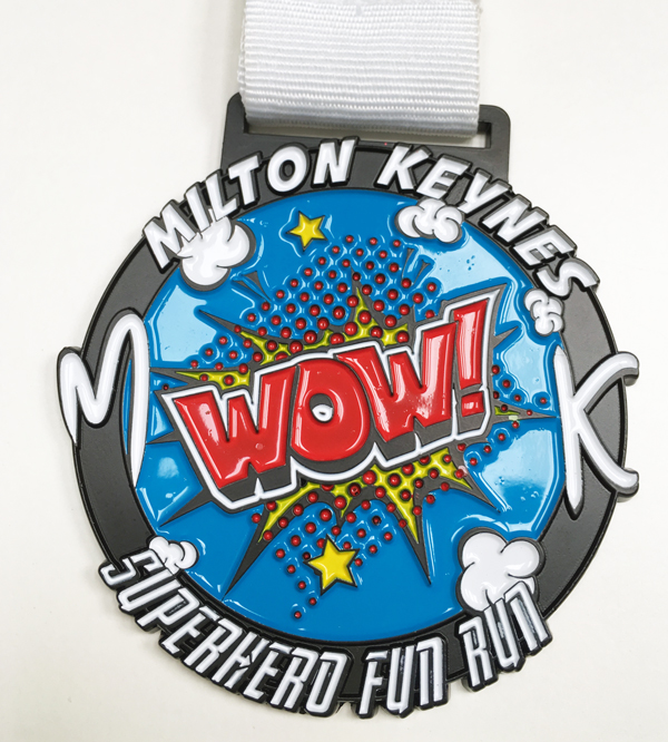 Superhero Fun Run Medal 2017
