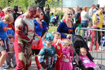 The MK Marathon Superhero Fun Run - amazing fun for the whole family, Milton Keynes 14