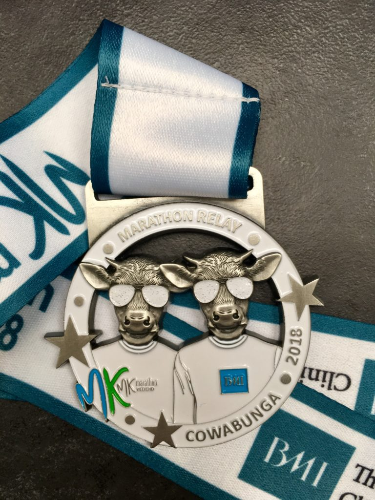 BMI The Saxon Clinic MK Marathon Relay Medal 2018