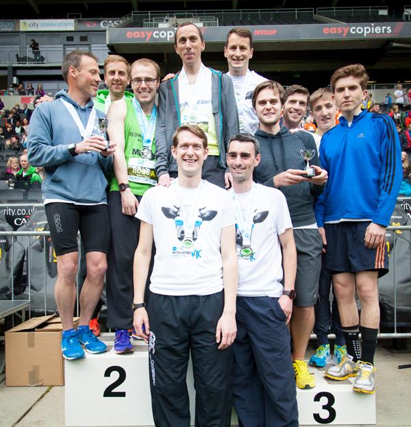 BMI The Saxon Clinic MK Marathon Relay Winners 2016