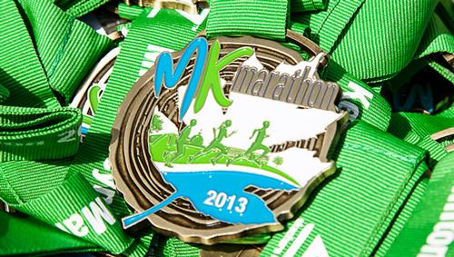 The MK Marathon medal 2013