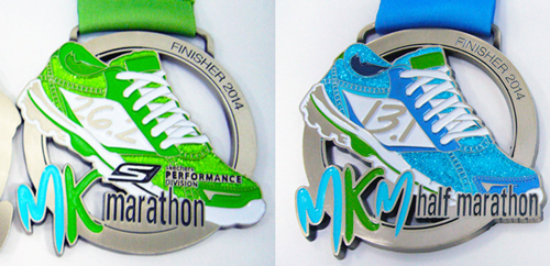 The MK Marathon and new MKM Half medals 2014