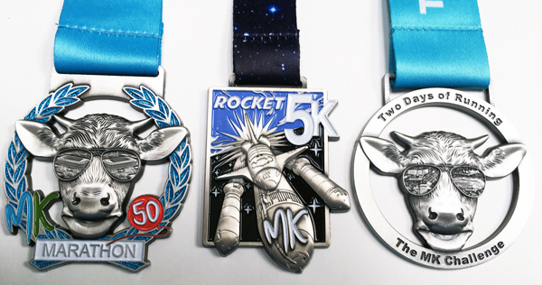 MK Marathon Challenge Medals 2017