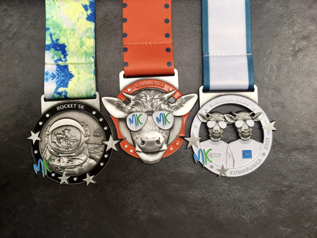 Run the MK Rocket 5k and MK Marathon Relay and gain the MK Challenge Medal