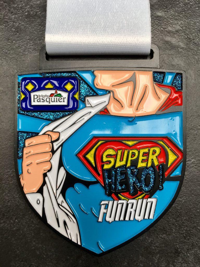 MK Marathon Superhero Fun Run Medal 2018