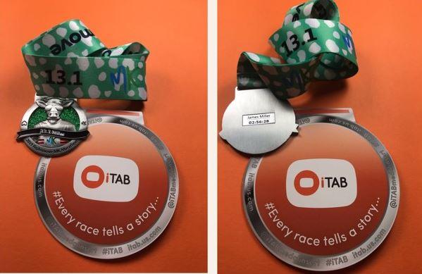 iTab medal insert for your MK Marathon or MK Half Marathon medal